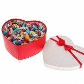 çikolatalı Badem Şekeri Lüx Büyük Kalp Kutu (14 Şubat Sevgiliye Özel Aşk Kutusu)