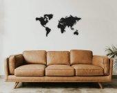 Metal Dünya Haritası 120x58 Cm Duvar Dekoru Visart