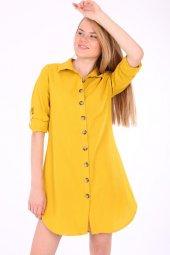 5750 Önden Düğmeli Yakalı Tunik Gömlek