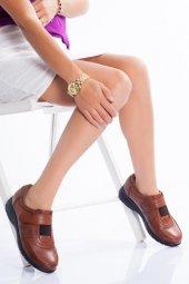 Hakiki Deri Ortopedik Kadın Ayakkabı