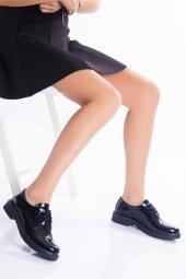 Siyah Rugan Oxford Kadın Ayakkabı
