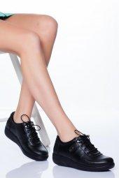 Hakiki Deri Siyah Kadın Ayakkabı Tmd790011