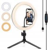 Led Tripod Youtuber Video Ring Light Selfie...