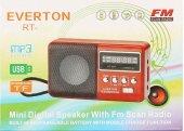 Everton Rt 303 Usb Ve Micro Kart Girişli Manuel El Radyosu