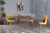 Elit Lüks Barok Yemek Masası & 4 Adet Polo Sandalye Takımı