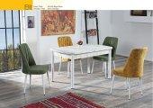 Elit Antik Beyaz Yemek Masası & 4 Vento Sandalye Takımı
