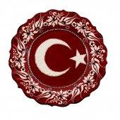 Türk Bayrağı Desenli Çini Tabak