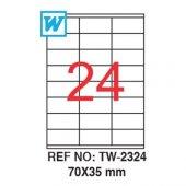 Tanex TW-2324 Lazer Etiket 70X35mm 2400 Adet Etiket