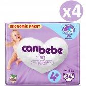 Canbebe Ekonomik Bebek No 4+ Bezi Maxi Plus 136 Adet (9 16kg) 34*4