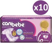 Canbebe Standart Bebek Bezi No 6 X Large 80 Adet (15kg+) 8*10