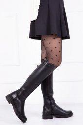 Tarçın Hakiki Deri Günlük Kadın Topuklu Çizme Trc117 3001