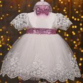 Pugi Baby Kız Bebek Mevlüt Takım Seti Beyaz