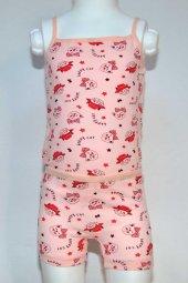 Kız Çocuk Kedi Desenli İç Çamaşır Takımı