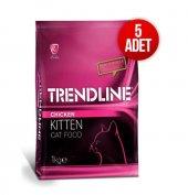 Trendline Kitten Yavru Kedi Maması 5x1 Kg + Kedi Minderi Hediye.