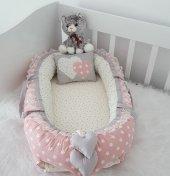 Modastra Baby Nest Pudra Ve Gri Tasarım Babynest