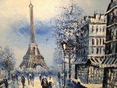 Türev Eyfel Kulesi Manzara Kanvas Tablo Eiffel Tower
