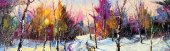 Türev Renkli Orman Kanvas Tablo