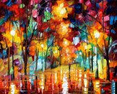Türev Yağmurlu Akşam Manzara Kanvas Tablo