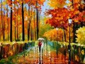 Türev Sonbahar Ormanı Manzara Kanvas Tablo