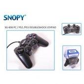 Snopy Sg 606 Usb Ps2 Ps3 Pc Black Joypad