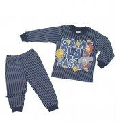 Erkek Bebek Çizgi Film Baskılı Pijama Takımı