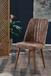 2 Adet Polo Sandalye Ahşap Ayaklı Yemek Masası Sandalyesi