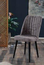 Polo Sandalye Ahşap Ayaklı Yemek Masası Sandalyesi
