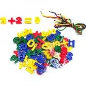 384 Parça İpe Sayı Dizme Oyunu Eğitici Lego Yapboz