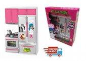 Kıtchen Oyuncak Pilli Buzdolabı Mutfak Seti