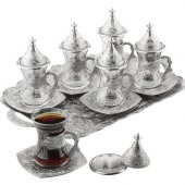 Sena Telkari Desenli 6lı Çay Seti