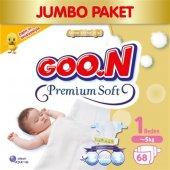 Goon Bebek Bezi Premium Soft Yenidoğan 1 Beden Jumbo Paket 60 Adet