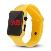 Sarı Renk Led Göstergeli Unisex Kol Saati