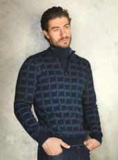 Sweater Fermuarlı Dik Yaka Erkek Triko 3844 1
