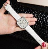 Beyaz Renk Deri Kordon Kadın Kol Saati