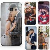 Huawei P8 Lite Çiftlere Tasarımlı İsimli Fotoğraflı Kılıf