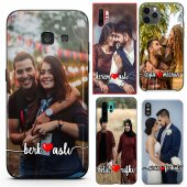 Huawei P8 Lite Çiftlere Tasarımlı İsimli Fotoğraflı Kılıf-2