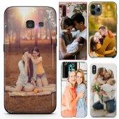 Huawei P10 Lite Çiftlere Tasarımlı İsimli Fotoğraflı Kılıf-4