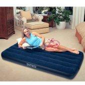 KIŞ KAMPANYASI! İntex 64757 Lacivert Tek Kişilik Şişme Yatak/Kamp Yatağı Şok Fiyat Kargo Ücretsiz-3