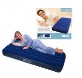 KIŞ KAMPANYASI! İntex 64757 Lacivert Tek Kişilik Şişme Yatak/Kamp Yatağı Şok Fiyat Kargo Ücretsiz-8