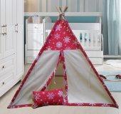 Altev Kartaneli Ahşap Çoçuk Çadırı Kızılderili Çadırı Oyun Evi Oyun Çadırı Kamp Çadırı Rüya Evi