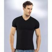 6lı Paket Seher 100 Pamuk Ribana V Yaka Erkek Tişört