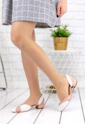 Nadia Beyaz Cilt Pudra Detaylı Topuklu Ayakkabı-6