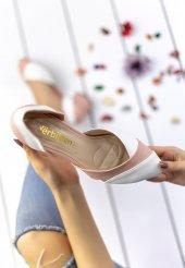 Nadia Beyaz Cilt Pudra Detaylı Topuklu Ayakkabı-3