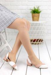 Nadia Beyaz Cilt Pudra Detaylı Topuklu Ayakkabı