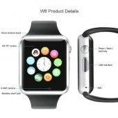 Angel Eye W8 Watch Kameralı Akıllı Saat IOS ve Android Uyumlu Siyah-2