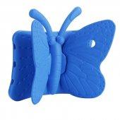Apple İpad Mini 4 Kılıf Olix Butterfly Standlı Silikon Mavi