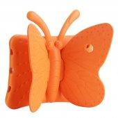 Apple İpad 2 3 4 Kılıf Olix Butterfly Standlı Silikon Turuncu