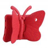 Apple İpad Mini 4 Kılıf Olix Butterfly Standlı Silikon Kırmızı