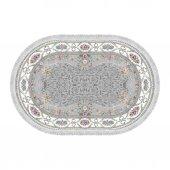 Decoling Safir 1800 Yeni Gri Dekoratif Oval Halı -3