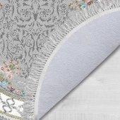 Decoling Safir 1800 Yeni Gri Dekoratif Oval Halı -5